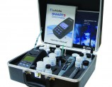 Includes tests for ammonia, color, conductivity, hardness, pH, potassium, and turbidity. Expandable to over 85+ tests.